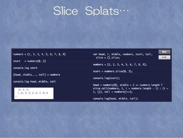 Slice Splats…