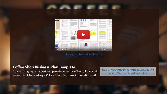 coffee shop business plan template pdf
