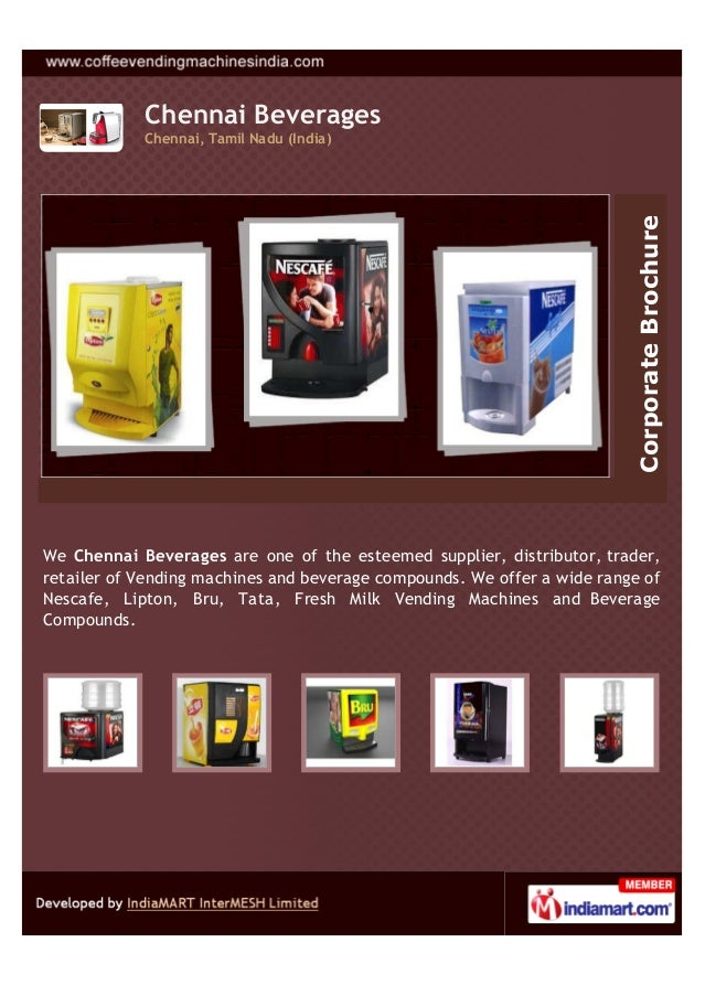 Chennai BeveragesChennai, Tamil Nadu (India)We Chennai Beverages are one of the esteemed supplier, distributor, trader,ret...