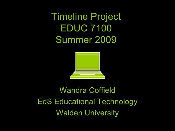Coffield W Timeline Project