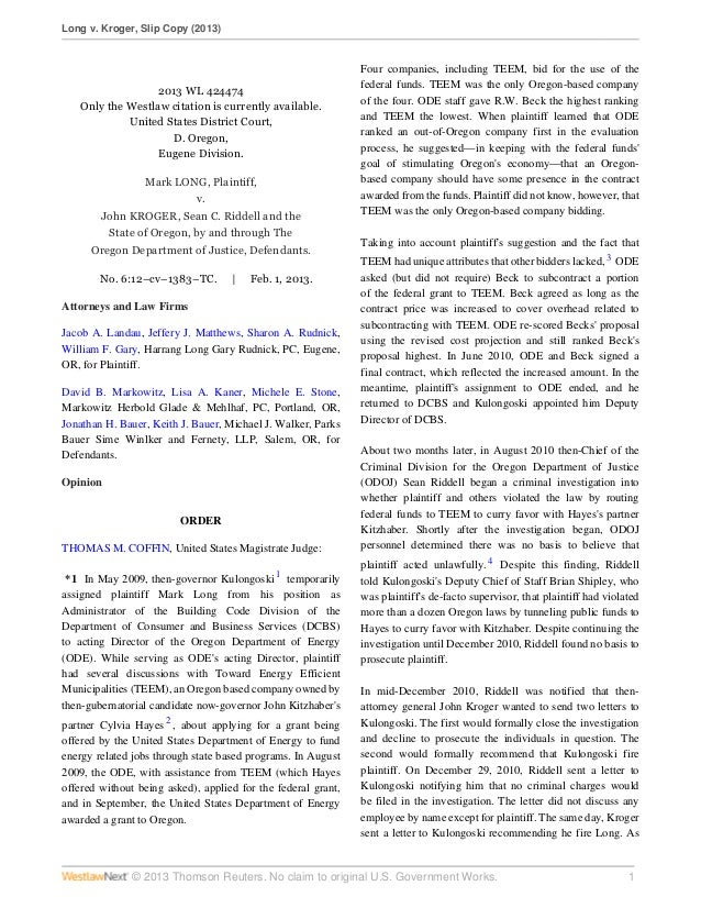 Long v. Kroger, Slip Copy (2013)© 2013 Thomson Reuters. No claim to original U.S. Government Works. 12013 WL 424474Only th...