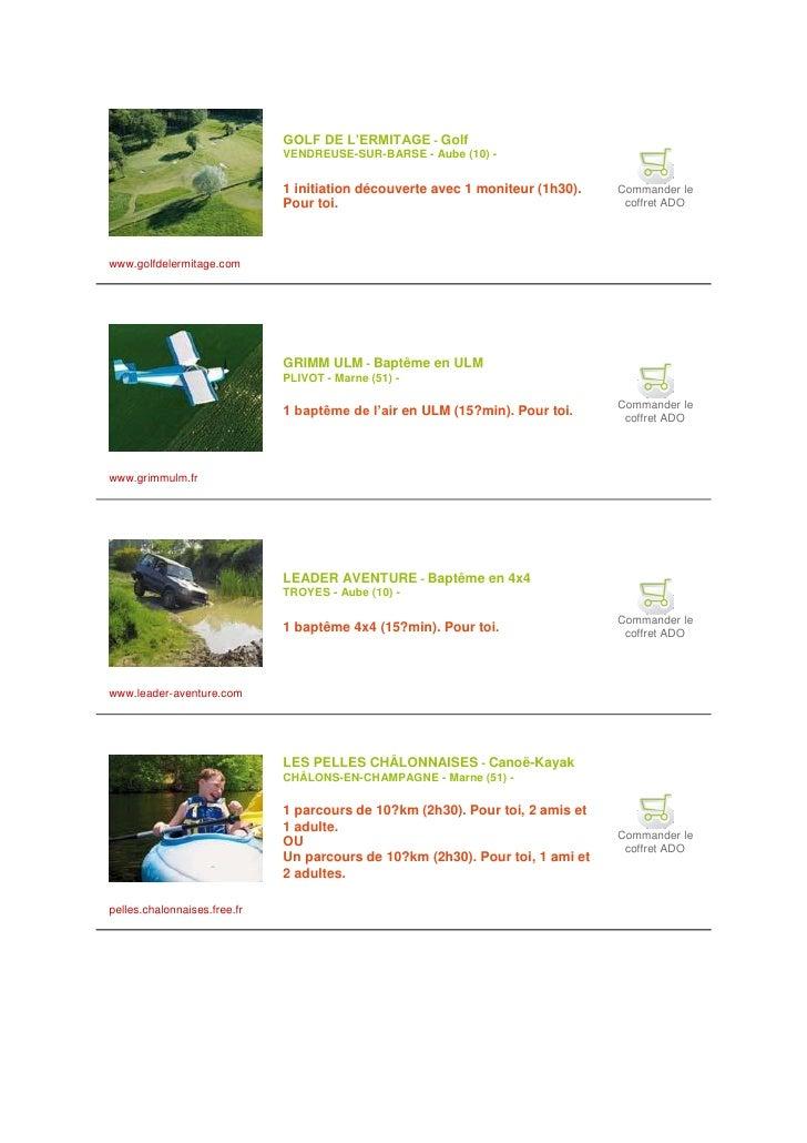 GOLF DE L'ERMITAGE - Golf                               VENDREUSE-SUR-BARSE - Aube (10) -                                 ...
