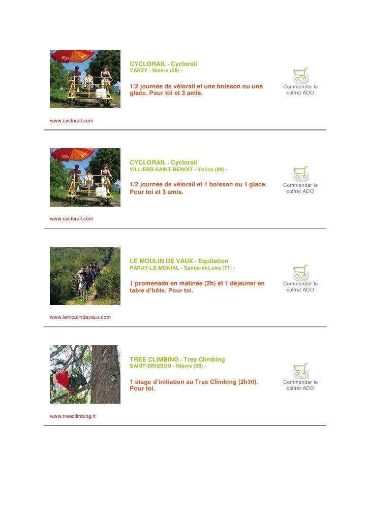 CYCLORAIL - Cyclorail                          VARZY - Nièvre (58) -                            1/2 journée de vélorail et...