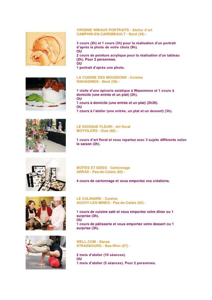 coffret atelier - Cours De Cuisine Arras