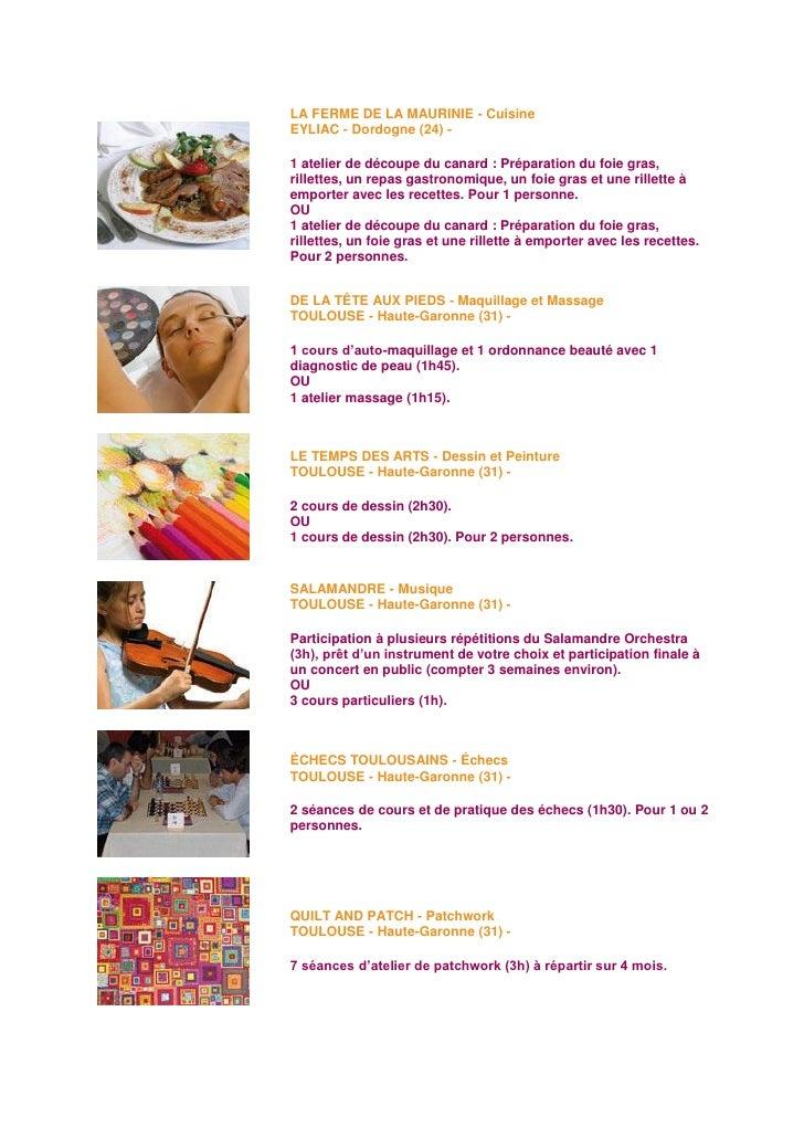 Coffret atelier for Atelier de cuisine gastronomique