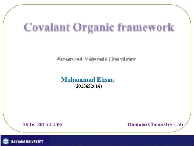 Covalant Organic Frameworks