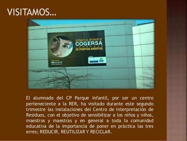 VISITAMOS… El alumnado del CP Parque Infantil, por ser un centro perteneciente a la RER, ha visitado durante este segundo ...