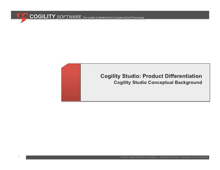 COGILITY SOFTWARE The Leader In Model Driven Complex Event Processing                                                   Co...