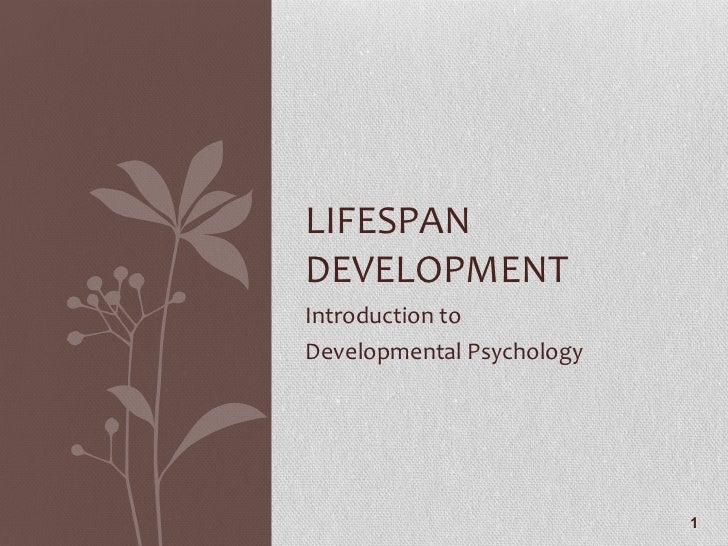 introduction to developmental psychology pdf