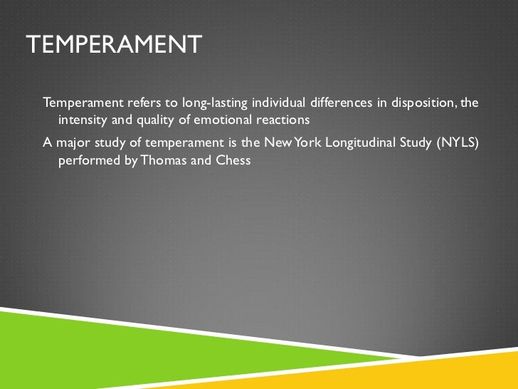 new york longitudinal study of temperament
