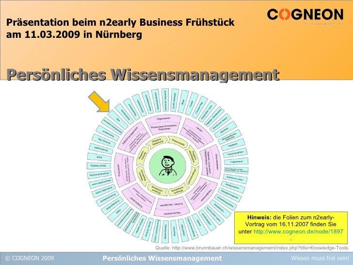 Präsentation beim n2early Business Frühstück am 11.03.2009 in Nürnberg Persönliches Wissensmanagement Persönliches Wissens...