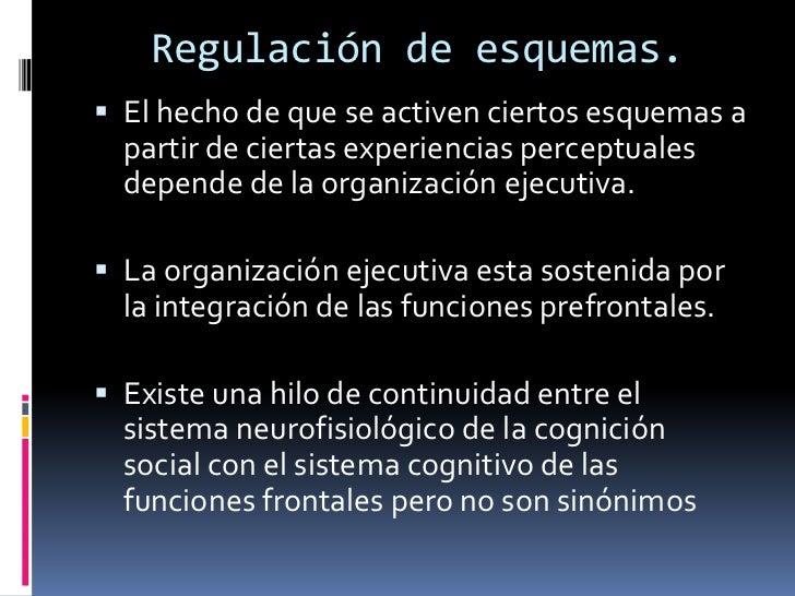 Regulación de esquemas.<br />El hecho de que se activen ciertos esquemas a partir de ciertas experiencias perceptuales dep...