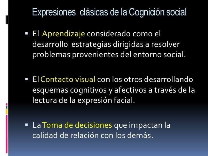 Expresiones  clásicas de la Cognición social<br />El  Aprendizaje considerado como el desarrollo  estrategias dirigidas a ...