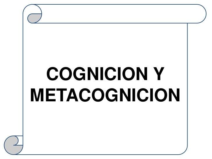 COGNICION YMETACOGNICION
