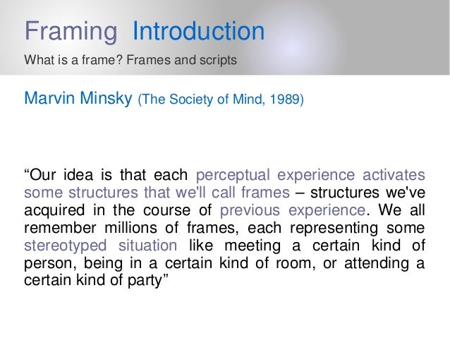 2 framing introduction what is a frame