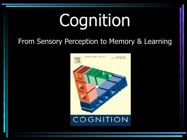 Cognition From Sensory Perception to Memory & Learning