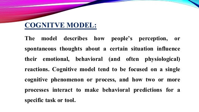 the cognitive model Abstract in this paper a cognitive model for visual attention is introduced the  cognitive model is part of the design of a software agent that supports a naval.