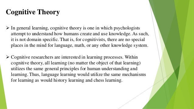 Cognitive approaches to learning piaget