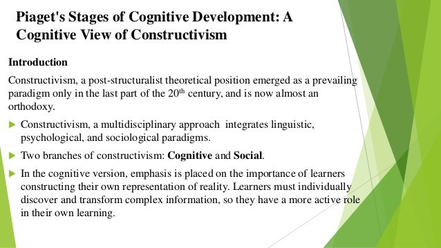 cognitive development according to piaget According to piaget, the development of concrete operations transforms all  psychological functioning the world becomes more and more predictable  children.