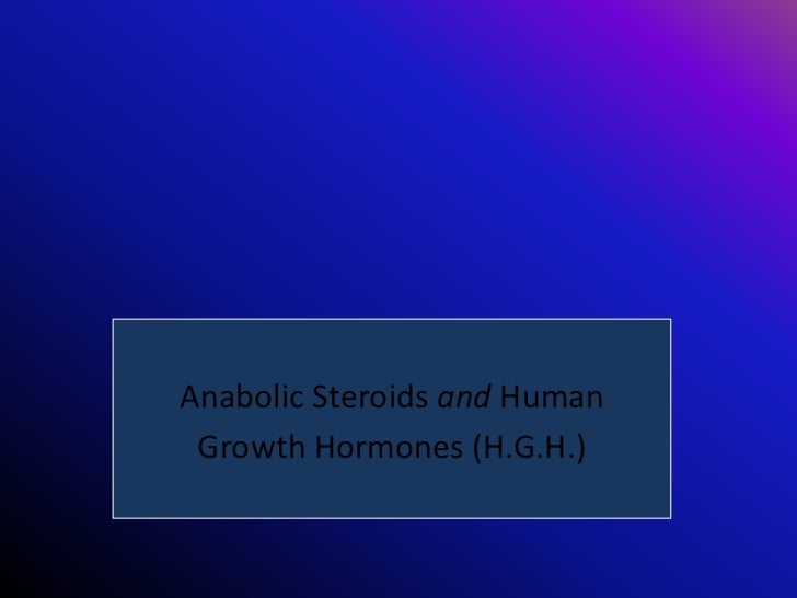 Society's View of Performance  Enhancing Supplements:   Anabolic Steroids and Human    Growth Hormones (H.G.H.)
