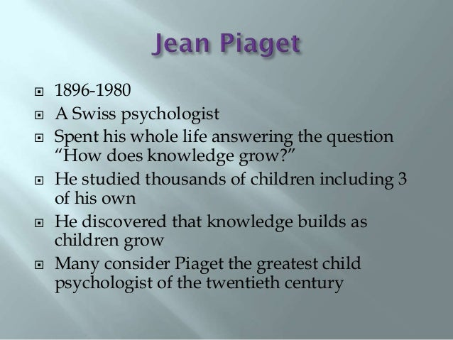 an introduction to qualitative differences in adult thinking according to jean piaget Social cognitive theories of jean piaget and according to dr boeree they this author found that one of the most striking differences between piaget and.