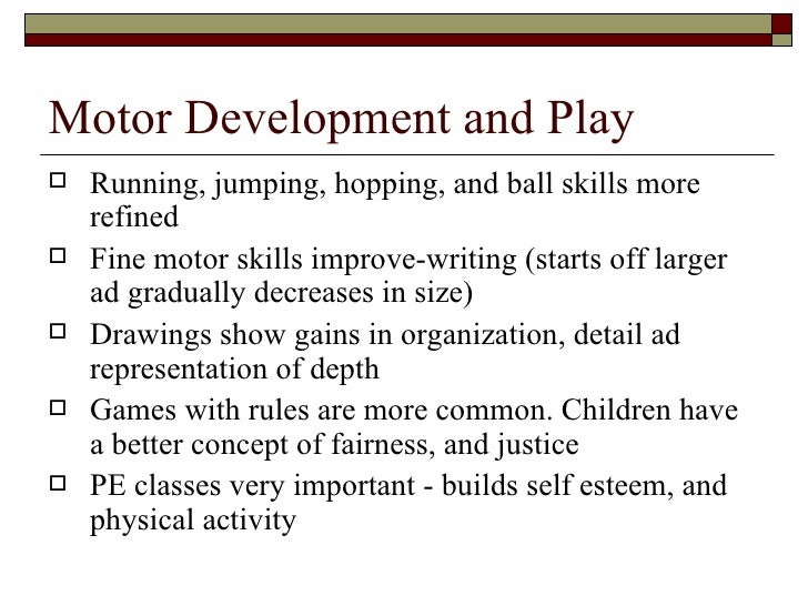 physical and motor development essay Identify infant and toddler physical and motor developmental milestones and ways to support development for all infants and toddlers describe the brain's role in infant and toddler physical development.