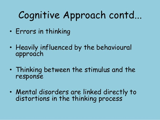 cognitive approach Piaget was the first psychologist to make a systematic study of children's cognitive development piaget's theory included four distinct stages of development: the.
