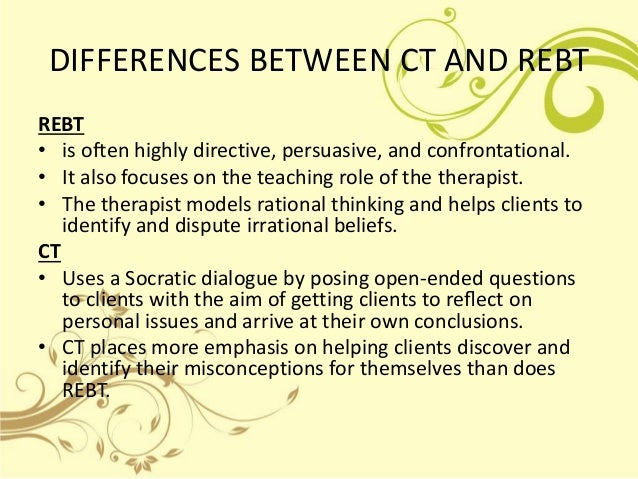 Differences between rational and irrational beliefs