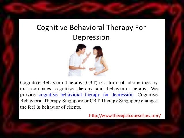 A study of cognitive behavioral therapy for depression