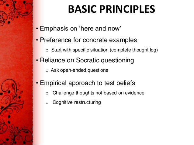 Cognitive behavior therapy theory and practice