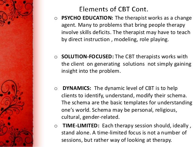 the theories key elements role of the therapist and critiques of the behavior therapy