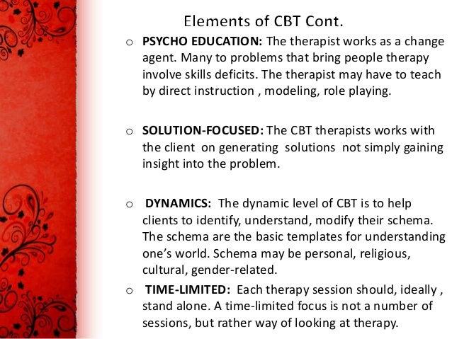 key elements of cbt