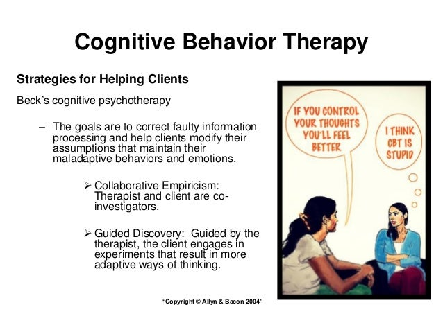cognitive behaviour therapy Learn what cognitive-behavioral therapy (cbt) is from the leading authority of cognitive-behavioral therapy.
