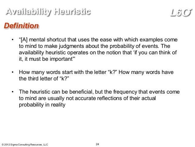 Heuristics definition essay