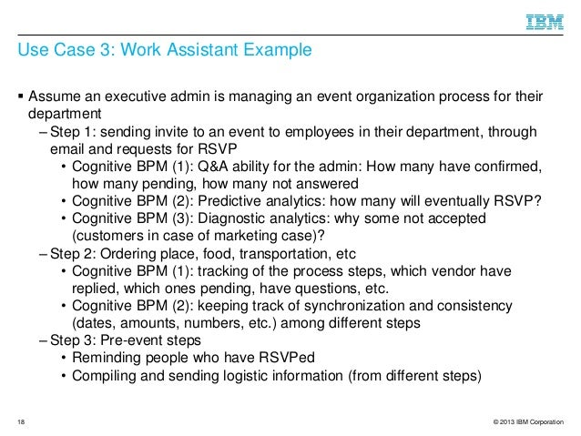 Towards Cognitive Bpm As A Platform For Smart Process Support Over Un Examples Of Goals Administrative Assistants