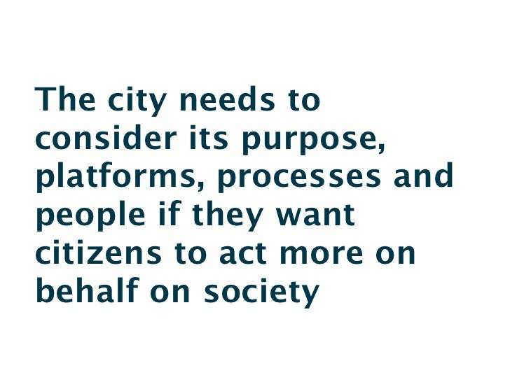 Networked citizens and the city