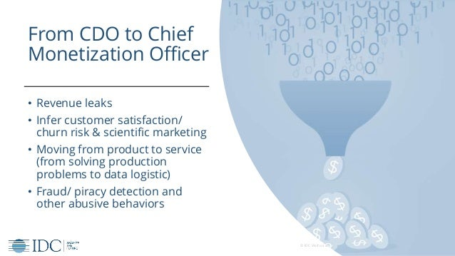 © IDC Visit us at IDCitalia.com and follow us on Twitter: @IDCItaly From CDO to Chief Monetization Officer • Revenue leaks...