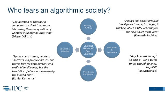 Who fears an algorithmic society? 4 Learning Networks/ Deep Learning Reading & Writing Abstraction & Integration Detection...
