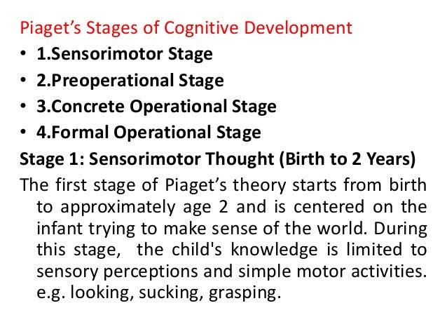 cognitive development piaget