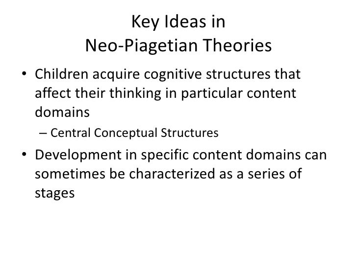piagetian and information processing theories To know more about piaget's theory, read on  development focuses on how a  child perceives the environment and how he/she processes the information.