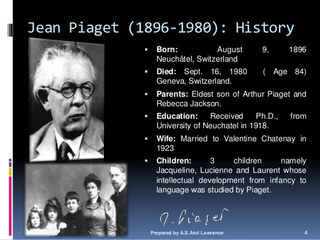"case study jean piaget Developmental learning: a case study in understanding ""object permanence the constructivists, represented by jean piaget."