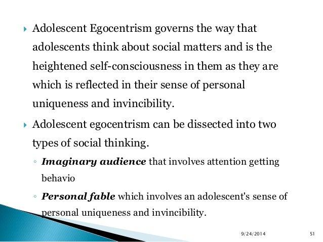 What is adolescent egocentrism?
