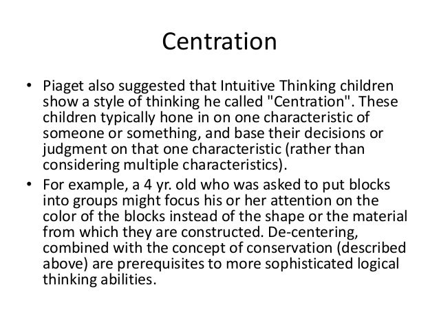 cognitive development including piaget u0026 39 s theory mainly in