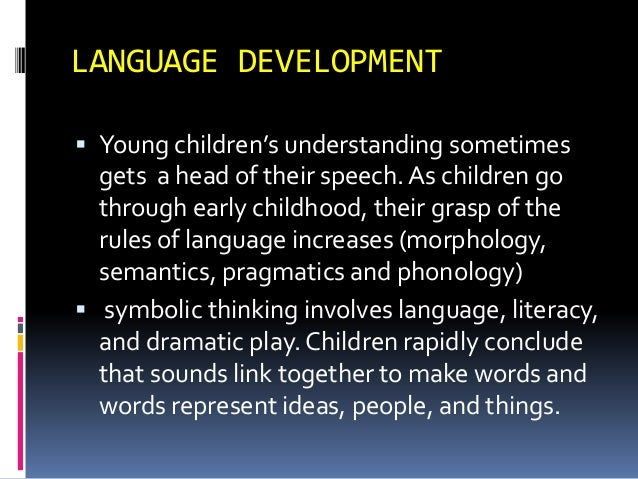 concepts of language and cognitive development Start studying cognitive theory's: vygotsky based around the concept of the zone of proximal development language partly controls cognitive development.