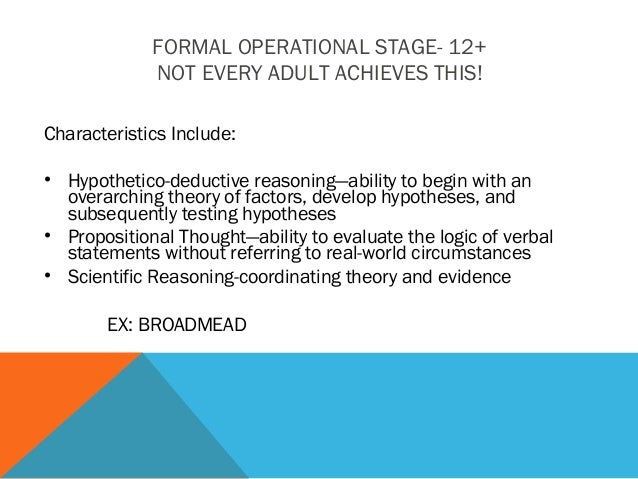 cognitive-development-piaget-ppt3-9-638 Formal Operational Stage Thoughts Examples on jean piaget theory, slide powerpoint presentation, real life examples, developmental issue, abstract thinking,