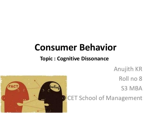 cognitive dissonance in consumer behaviour