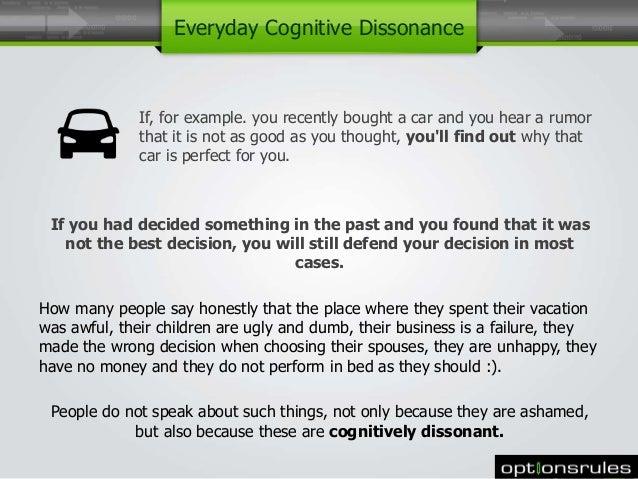 Cognitive Dissonance Reduction