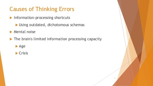 Understanding And Addressing Processing >> Cognitive Distortions Understanding And Addressing Them