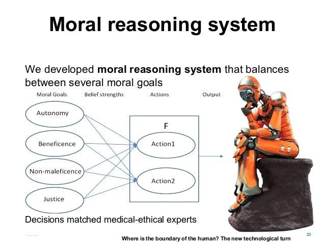 Moral reasoning system We developed moral reasoning system that balances between several moral goals Decisions matched med...