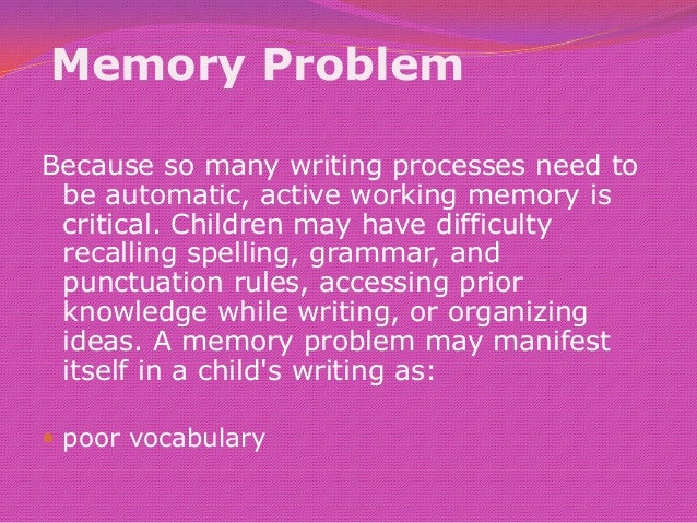 the difficulty of accurately recalling memory Memory plays an important role in enabling a student to recall math facts accurately, relatively instantaneously, and with little.